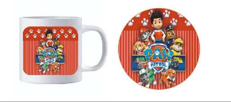 """Juego de taza con posa taza con foto nombre personalizados """""""