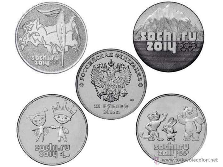 Monedas de rusia - 25 rublos - juegos olímpicos - sochi