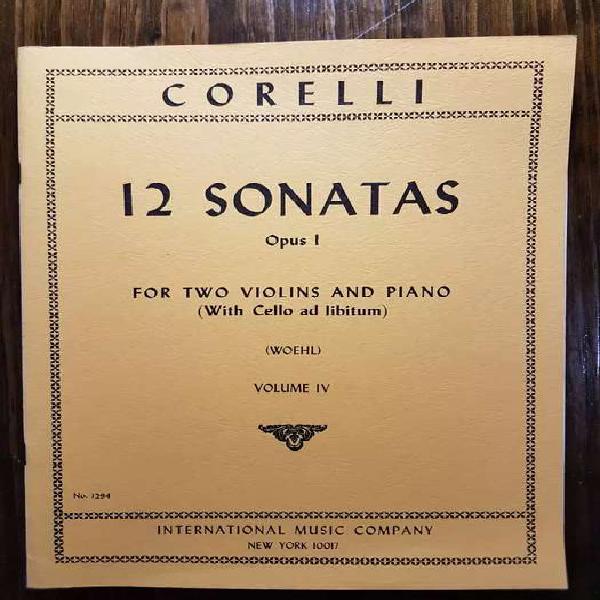 Partituras de música de cámara: corelli - 12 sonatas opus