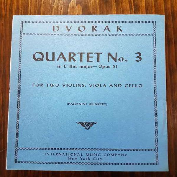 Partituras de música de cámara: dvorak - cuarteto de