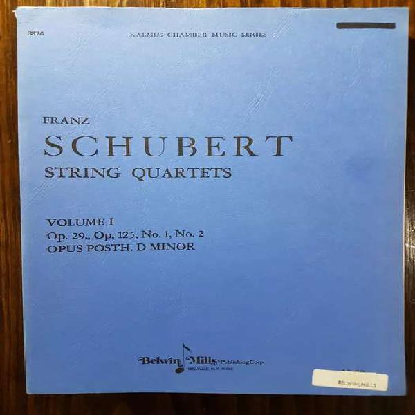 Partituras de música de cámara: schubert - cuartetos de