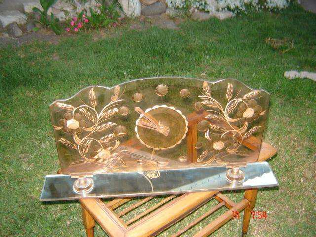 Reloj de mesa grande art deco diseño retro vintage paraver