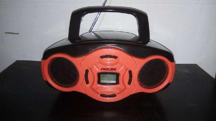 Sistema de audio cd, mp3, radio am/fm, usb, aux proline