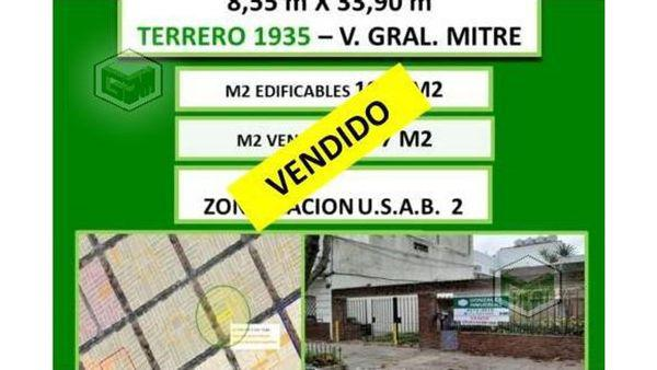 Terrero 1900 100 - lote en venta en villa general mitre,