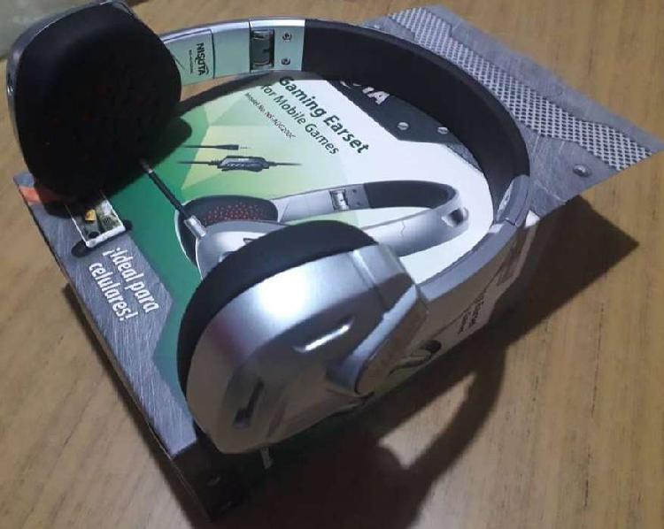 Vendo auriculares gaming micrófono nisuta sin uso!!!