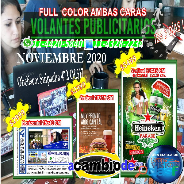 5Mil Volantes 10x15cm $2999 Full Color Ambas Caras Capital Federal