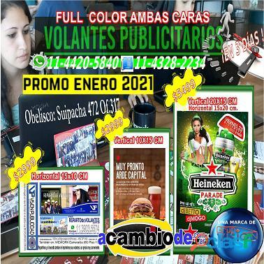 5Mil Volantes 10x15cm $2999 Full Color Ambas Caras Capital Federal