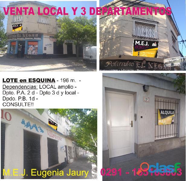 VENTA LOCAL + DEPARTAMENTOS   1