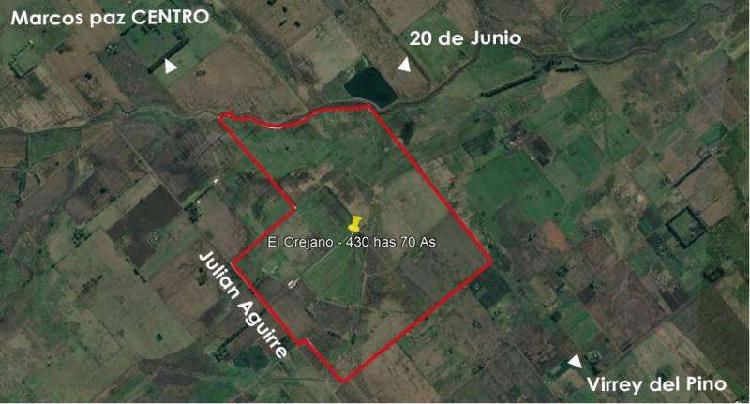 Campo, 400has, 70as. el orejano, marcos paz, cod. 3008