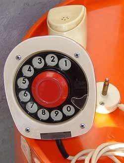 Telefono erickophone ericksoon diseño retro vintage 60s