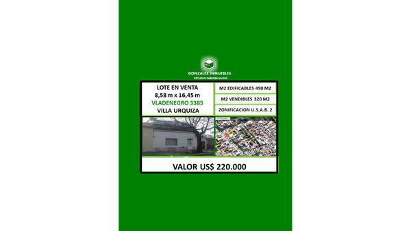 Valdenegro 3300 - lote en venta en villa urquiza, capital
