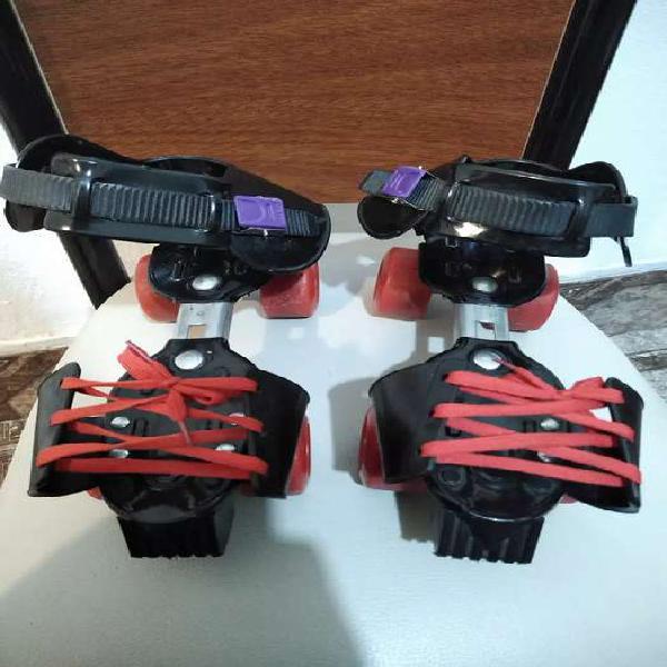 Patines de metal 4 ruedas