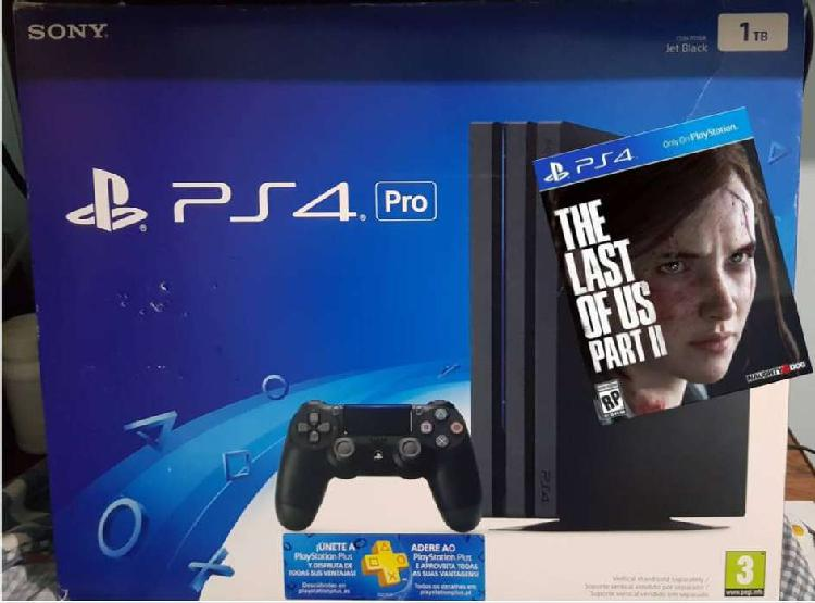 Ps4 pro 1 tb + 9 juegos (the last of us 2, days gone, red