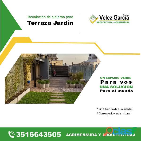 Techos Verde   Lagunas Parquizadas. Diseño de Parques y Jardines, Fuentes, Cascadas.