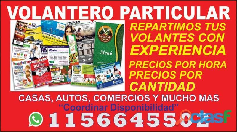 VOLANTEROS/SERVICIO DE REPARTO DE VOLANTES