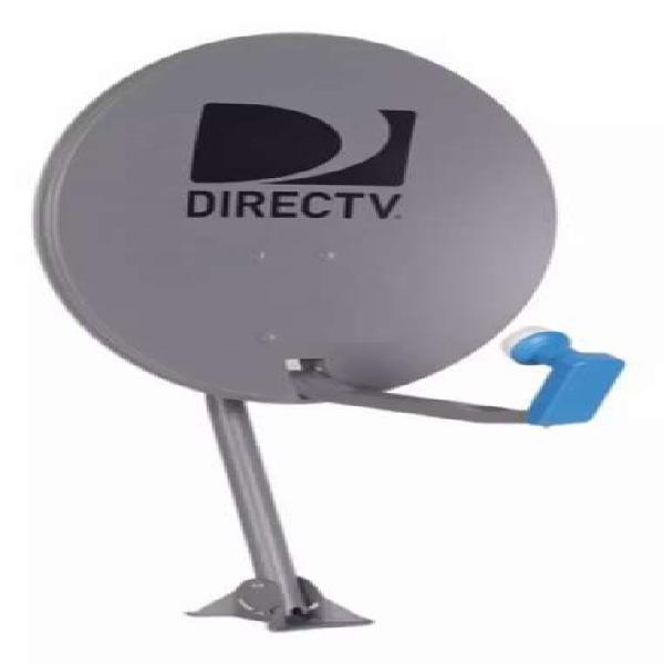 Antena directv 0.60 nueva con lnb anclajes y tornillos para