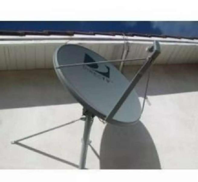 Antena directv 0.90 (usada) con lnb anclajes y tornillos
