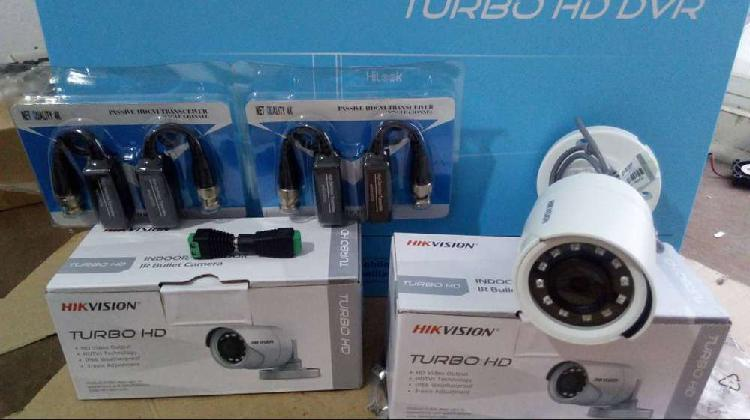 Kit 1 dvr hitlook turbo hd 1080 y 2 camaras bullet+ balun