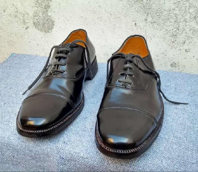 Zapato cuero militar hombre suela febo-impecables!