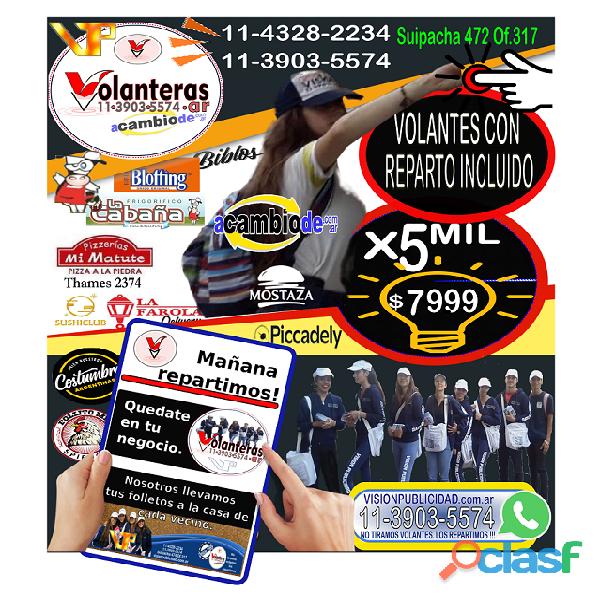 Promo imperdible: reparto de volantes con impresion de los mismos gratis