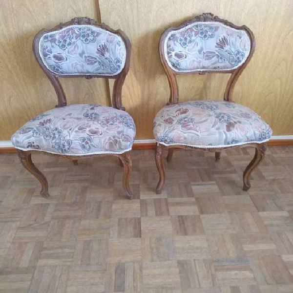 2 sillas luis xv