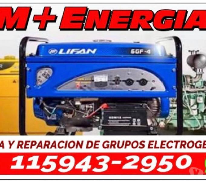 M+energia grupos electrogenos reparacion service a domicilio