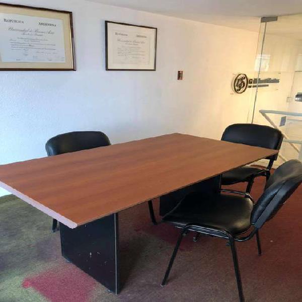 Mesa reunión escritorio melamina tisera puesto de trabajo