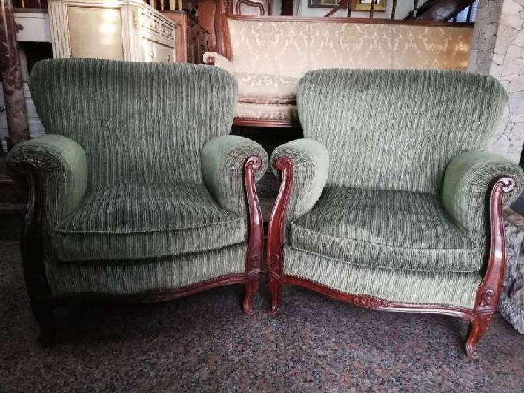 Par de sillones antiguos estilo frances luis xv