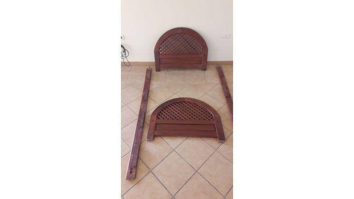 Vendo sillon cama de madera de algarrobo