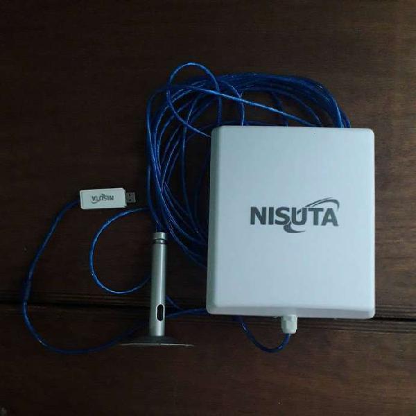 Antena amplificadora de wifi sin uso. marca nisuta