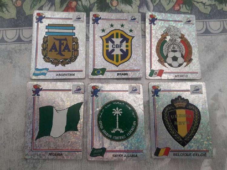 Figuritas hologramas escudos mundial francia 98 lote 6