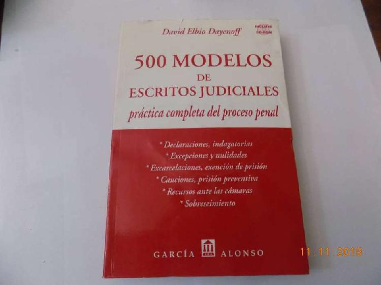 Libro 500 modelos de escritos judiciales dayenoff con cd
