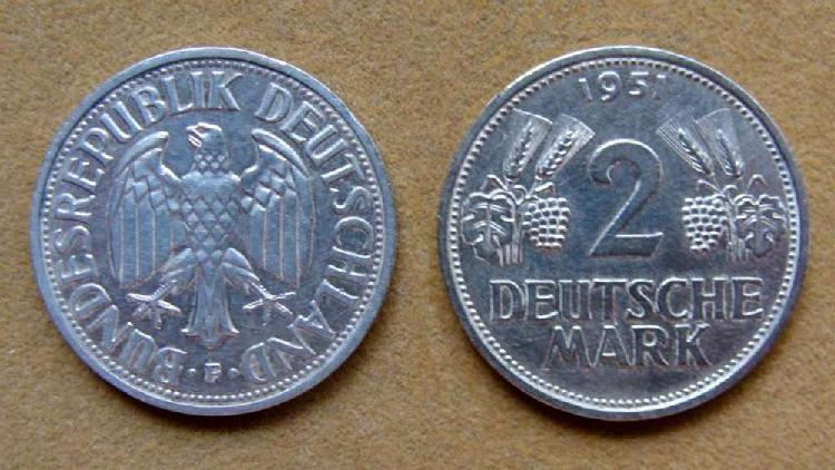 Moneda de 2 marcos alemania federal 1951