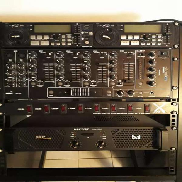 Equipo audio dj completo, listo para trabajar!