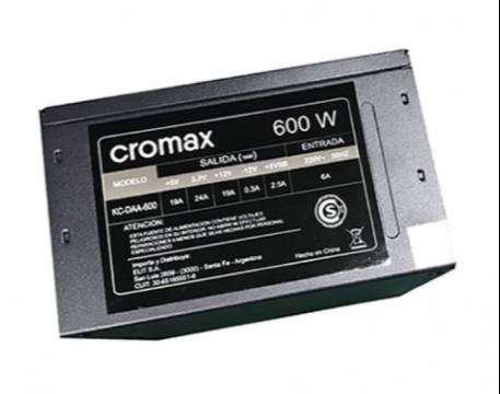 Fuente cromax 600w