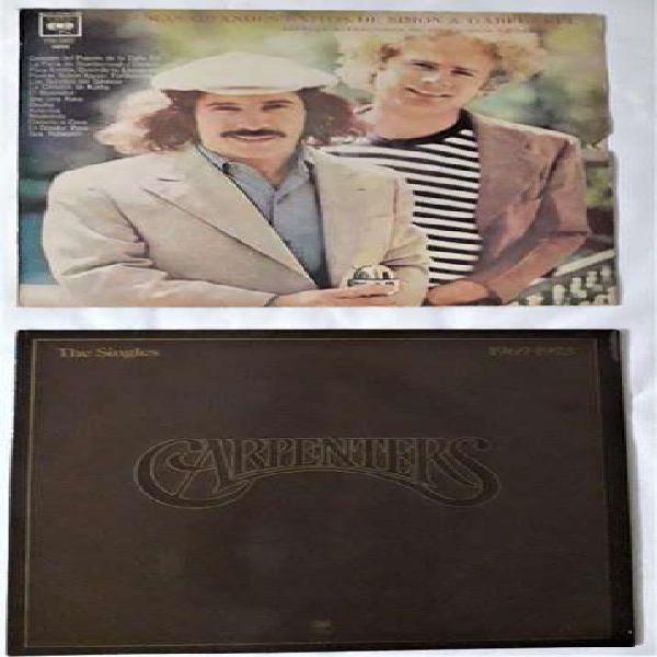 Lote de dos discos de vinilo - de dúos: simon & garfunkel y