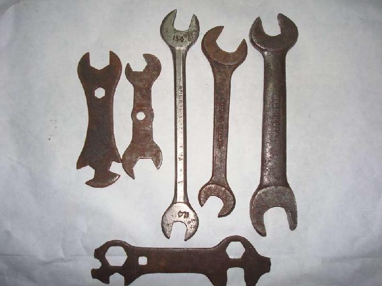 Lote 6 llaves fijas herramientas usadas antiguas