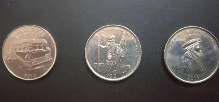 Lote panamá monedas conmemorativas 1/2 balboa - lote de 6