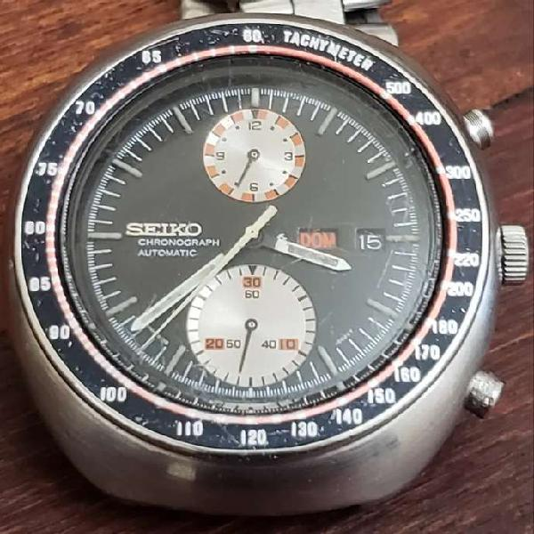 "Seiko ufo ""6931-0011""cronografo gran tamaño impecable"