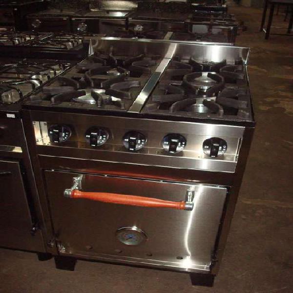 Cocina industrial 4 hornallas, marca enrique garcia, nueva,