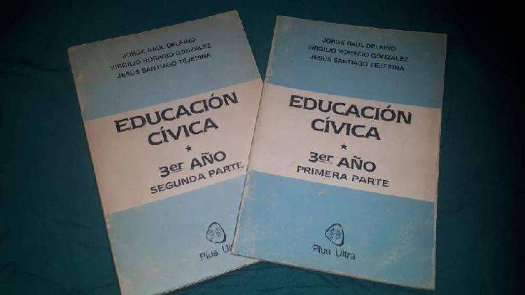 Educación cívica 3er año (1ra y 2da parte). autores