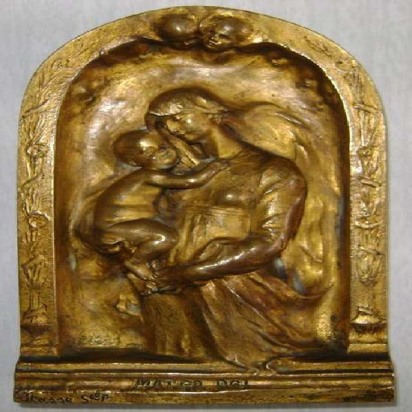 Escultura bronce mater dei siglo 19 firmada jeanne tasse /
