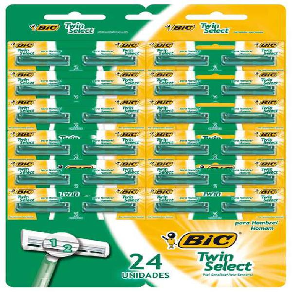Maquina de afeitar marca bic twin select sin gel x24und
