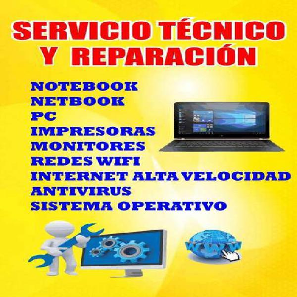 Servicio tecnico y reparacion de notebook impresoras