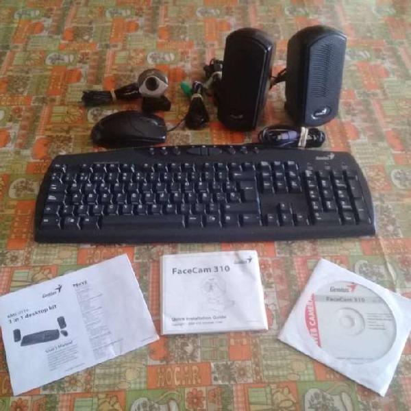 Teclado español y mouse ps/2 parlantes usb genius kms u110