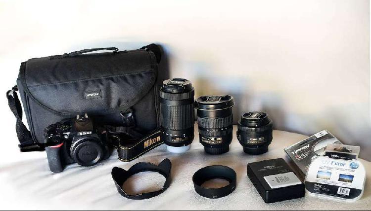 Vendo equipo de cámara reflex nikon d5600, lentes y