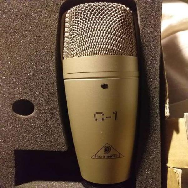 Vendo microfono behringer c1 condenser cardioide casi nuevo