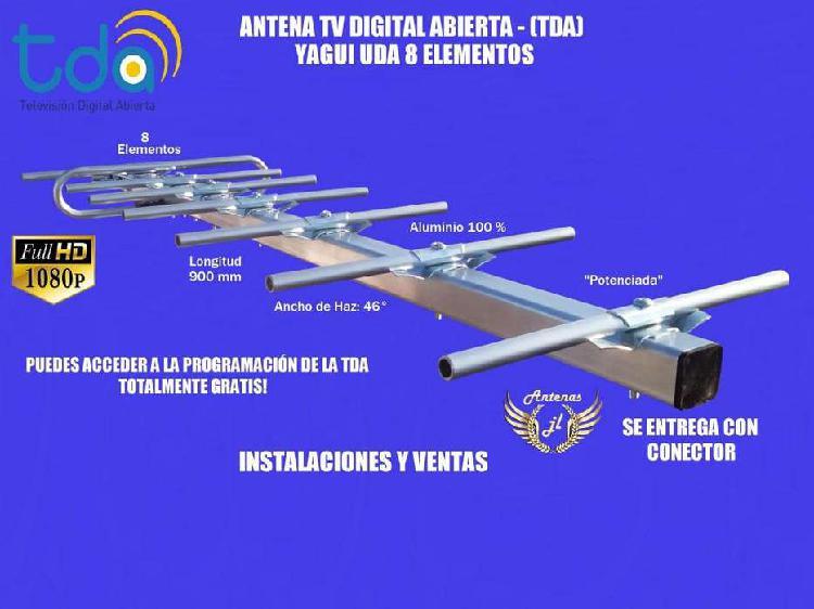 Antena tv digital abierta yagui 8 elementos. la mejor señ