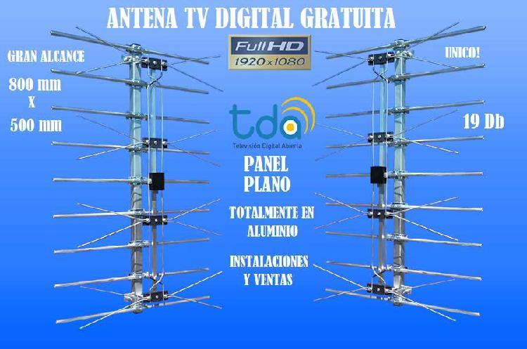 Antena tv digital gob.promo panel plano,inst inc. 30 señ hd