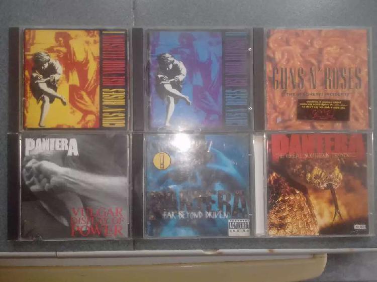 Lote cds pantera y guns n roses originales